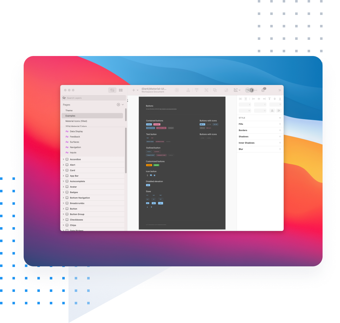 Material-UI for Sketch